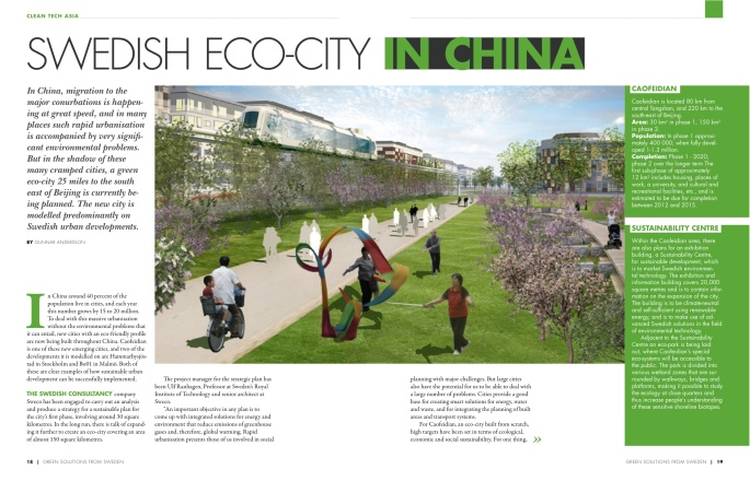 Swedish Eco-city in China