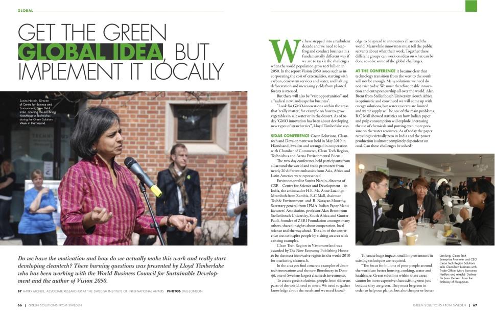 Get the green global idea
